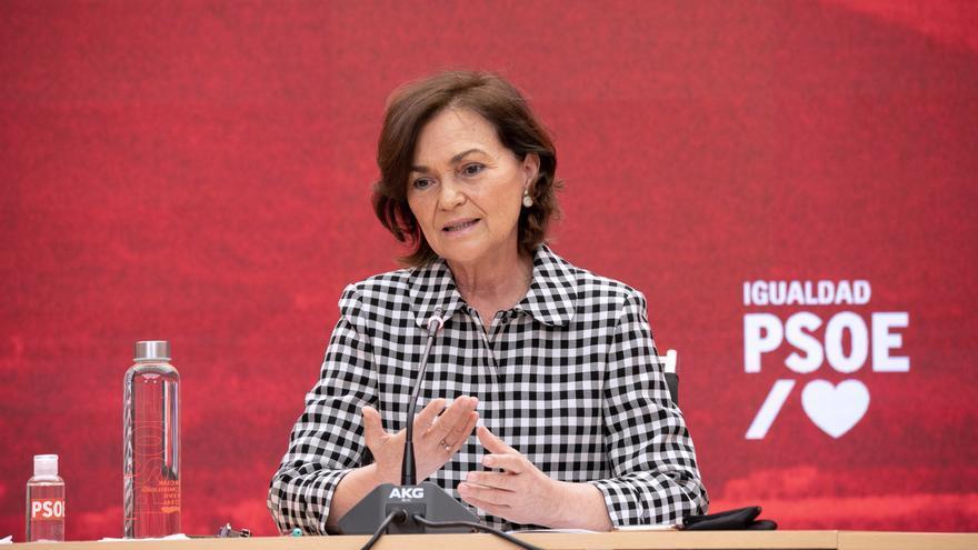 Carmen Calvo avanza que el PSOE impulsará una ley para abolir la prostitución