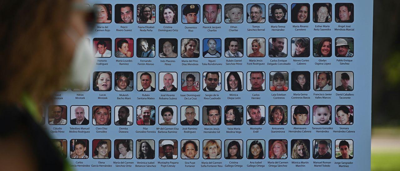Homenaje a la víctimas del accidente aéreo de Spanair en 2008 el pasado agosto.