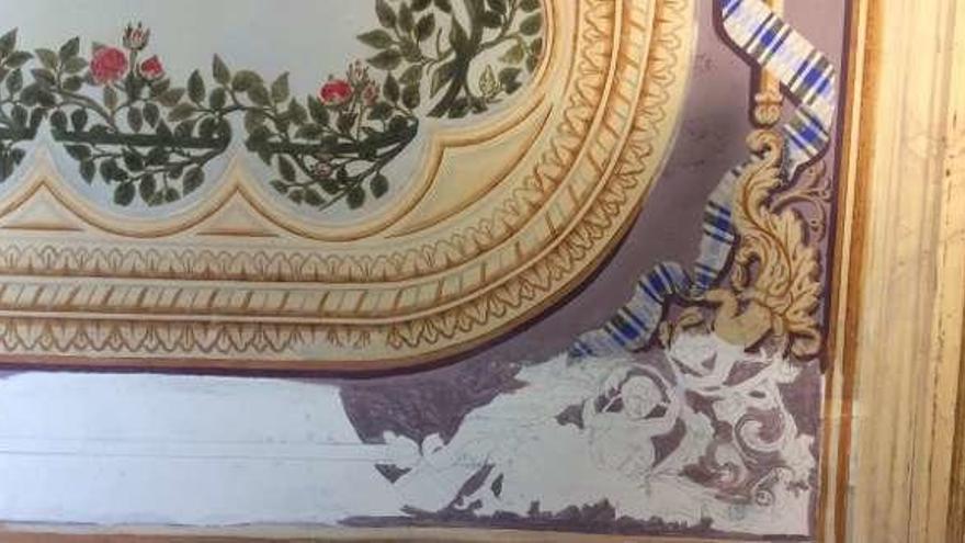 Los techos del palacio de Maqua recobran su esplendor