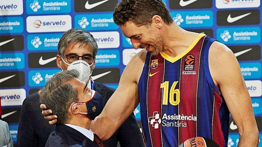 Pau Gasol: «Vinc    per ajudar el Barça a guanyar l'Eurolliga»