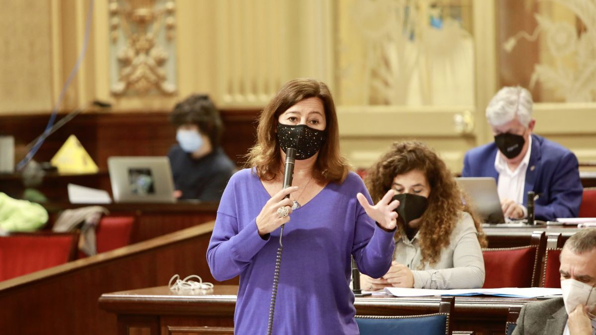 Armengol hoy en el Parlament