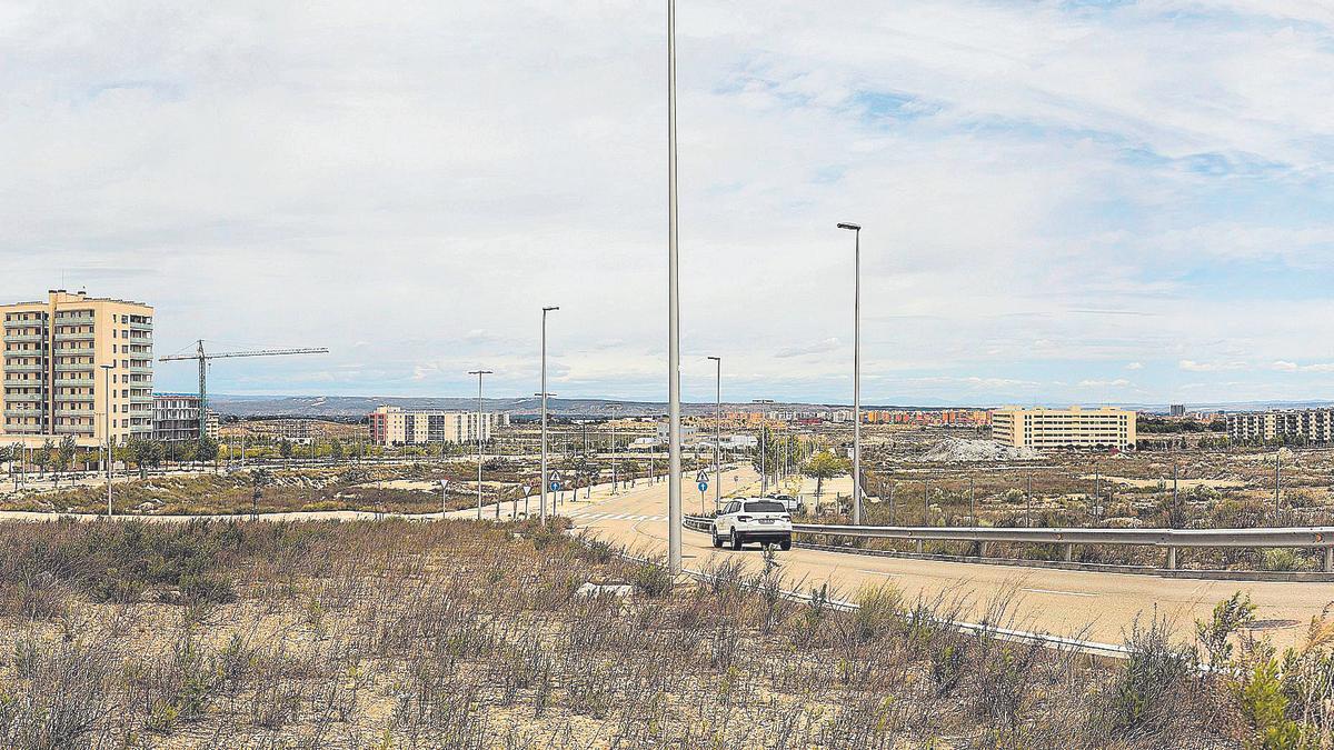 Panorámica del barrio de Arcosur donde se localizan las parcelas en las que se van a acometer las nuevas obras de urbanización