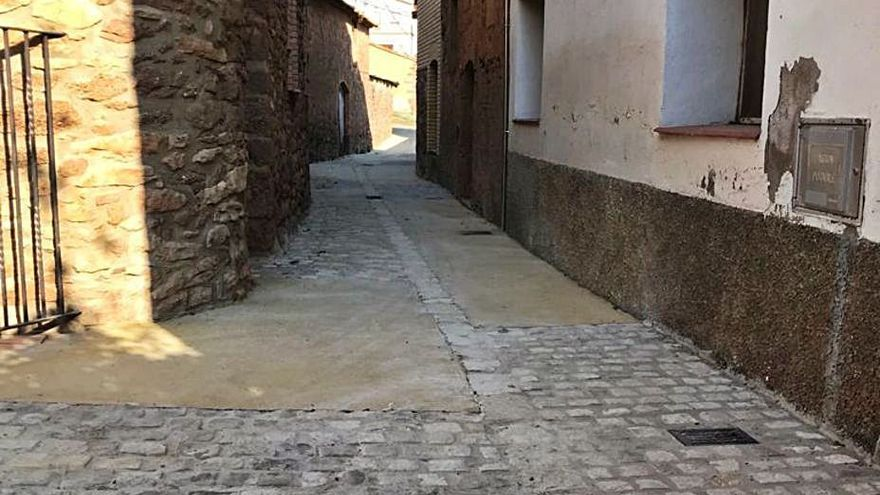 Fonollosa inicia el pla de millora de carrers del nucli de Fals