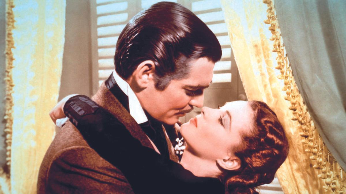 Clark Gable y Vivien Leigh.