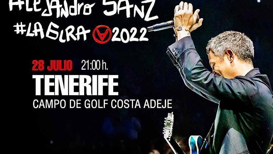 Alejandro Sanz confirma su cita con Tenerife el 28 de julio
