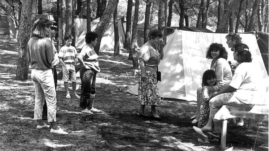 Aquella acampada salvaje en Cangas