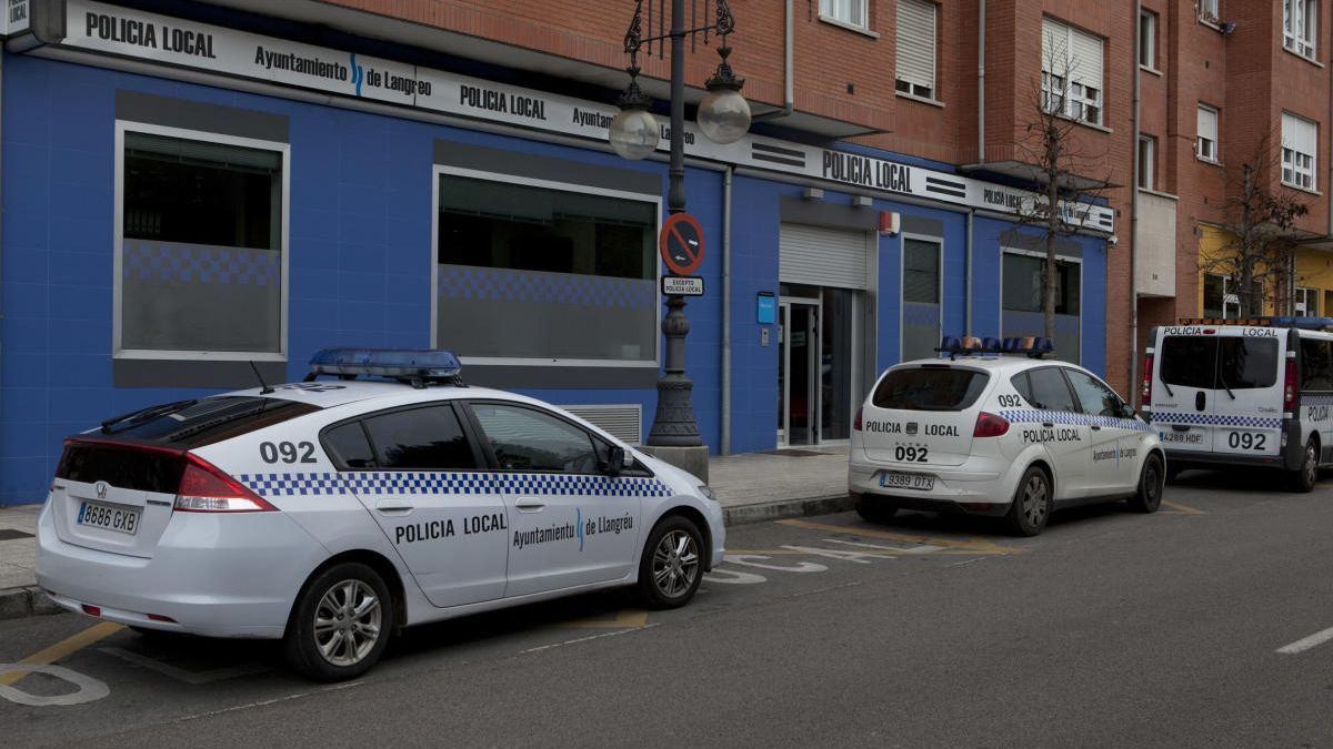 Las dependencias de la Policía Local de Langreo.