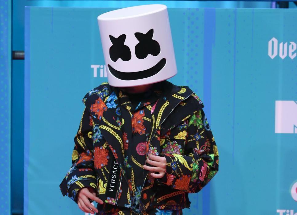 Marshmello arrives at the 2018 MTV Europe Music ...