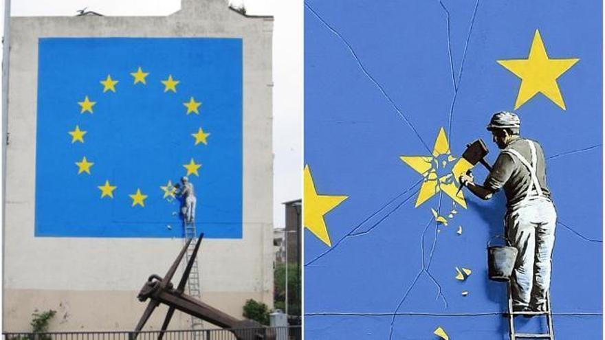 Banksy pinta un mural sobre el 'Brexit' en Dover