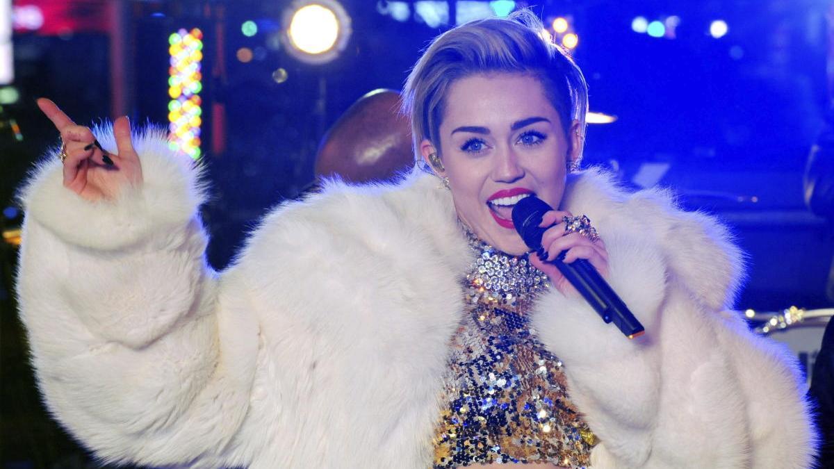 La cantante estadounidense Miley Cyrus.