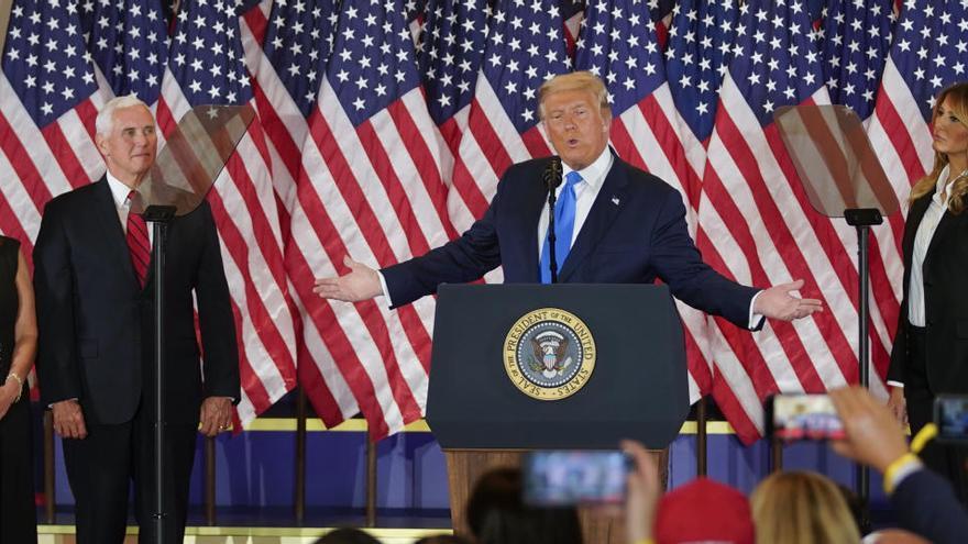 Trump s'autoproclama guanyador i avança que impugnarà el recompte al Suprem