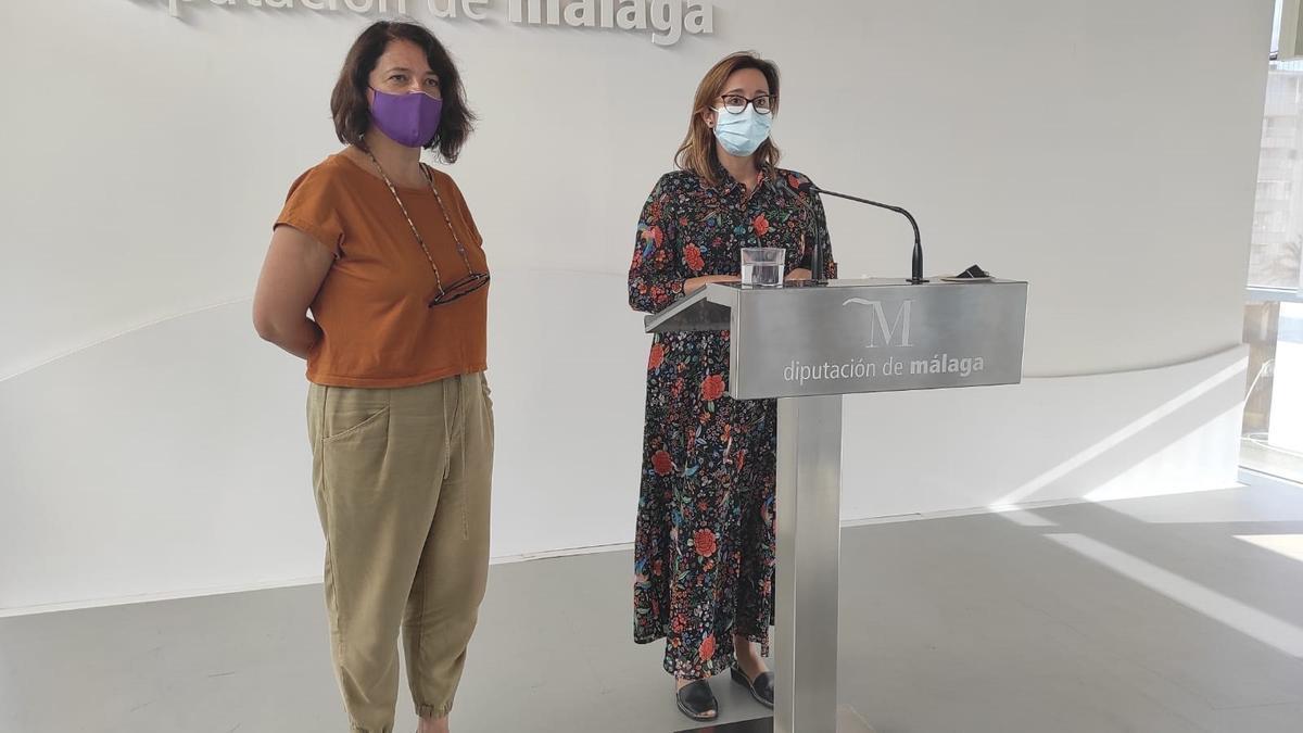 Teresa Sánchez y Maribel González, diputadas del grupo Adelante en la Diputación de Málaga.