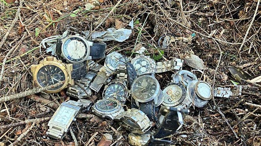Un veí de la vall de Sant Daniel troba una bossa plena de rellotges de marca al bosc