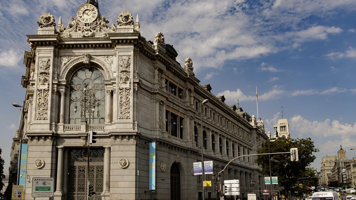 Fachada del edificio del Banco de España.