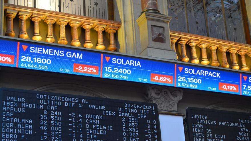 El Ibex 35 sube un 1,26% y logra los 8.900 puntos