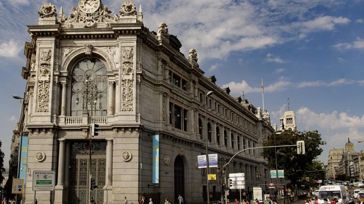 Fachada del Banco de España en Madrid. // Eduardo Parra