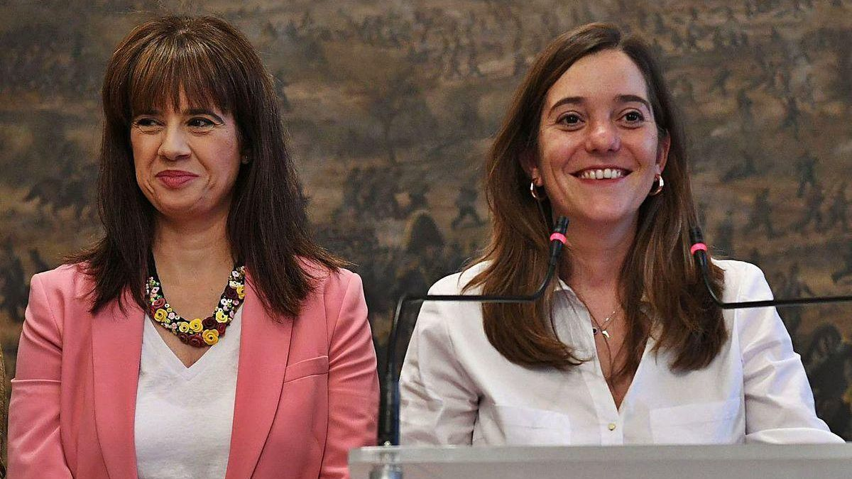 Martínez Acón e Inés Rey, en la presentación del Gobierno, en junio de 2019.