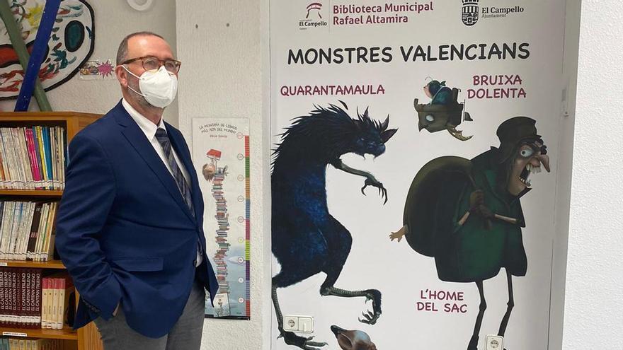 """La Biblioteca de El Campello rescata los """"monstruos valencianos"""" para redecorar su sala infantil"""