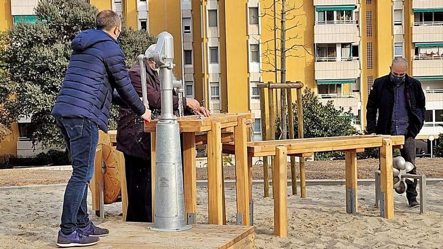 El parc de Can Font inaugura jocs relacionats amb l'aigua