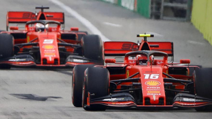 Leclerc domina los últimos libres en el GP de Singapur