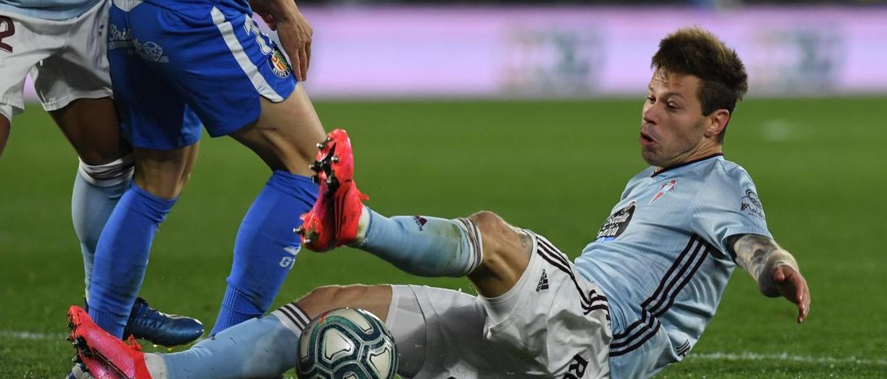 Smolov, en el último partido contra el Getafe. // Sergio Reyes