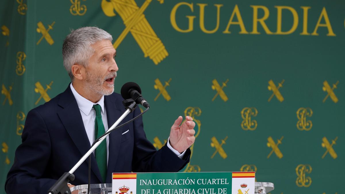Marlaska, en la apertura de las nuevas instalaciones de la Guardia Civil en Villalbilla (Madrid).