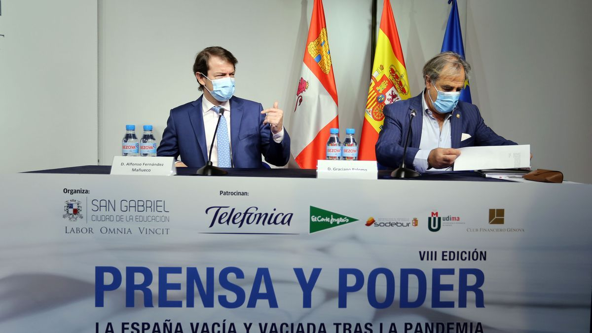 Alfonso Fernández Mañueco, presidente de Castilla y León, en el seminario Prensa y Poder.