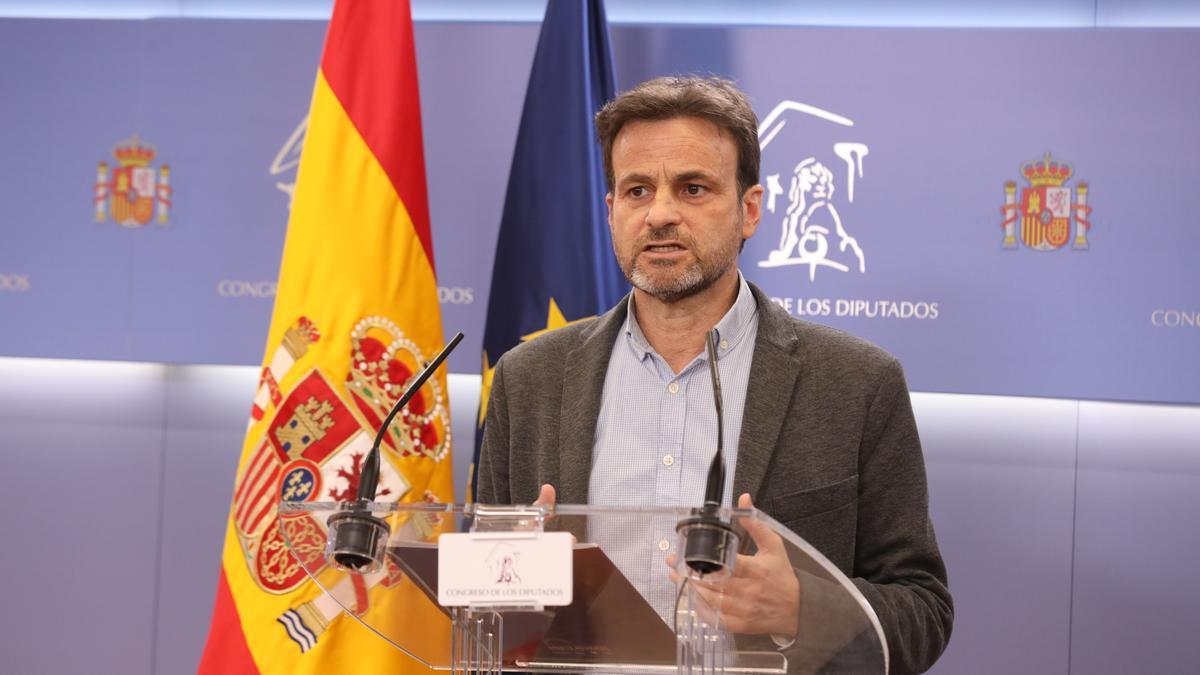 El presidente del grupo parlamentario de Unidas Podemos en el Congreso, Jaume Asens-