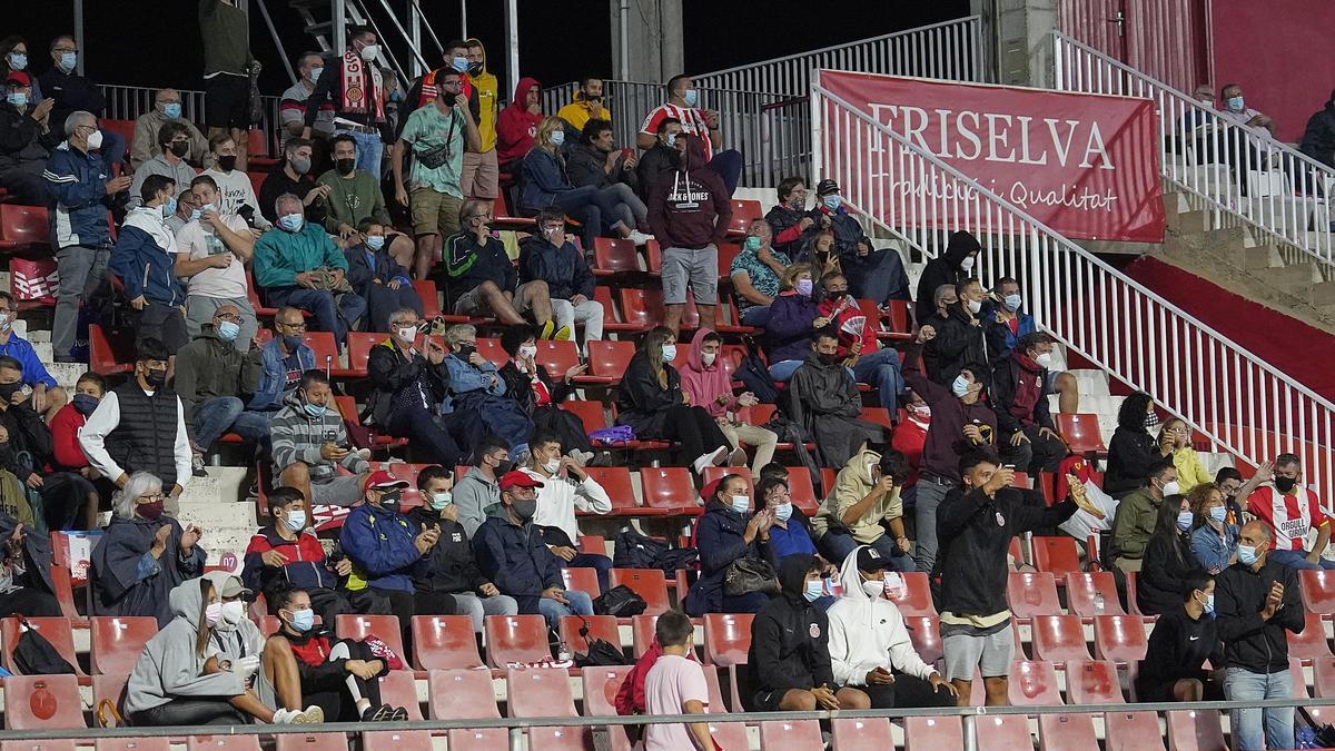 Una imatge del públic durant el partit contra el Valladolid