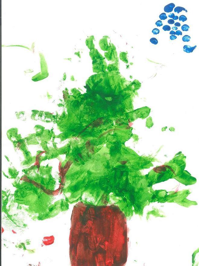 Segundo premio en categoría Infantil del Concurso de Postales Anecoop, obra de Pau Gabaldó Soriano, de 2 años.