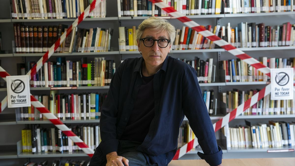 David Trueba, during his meeting with the readers