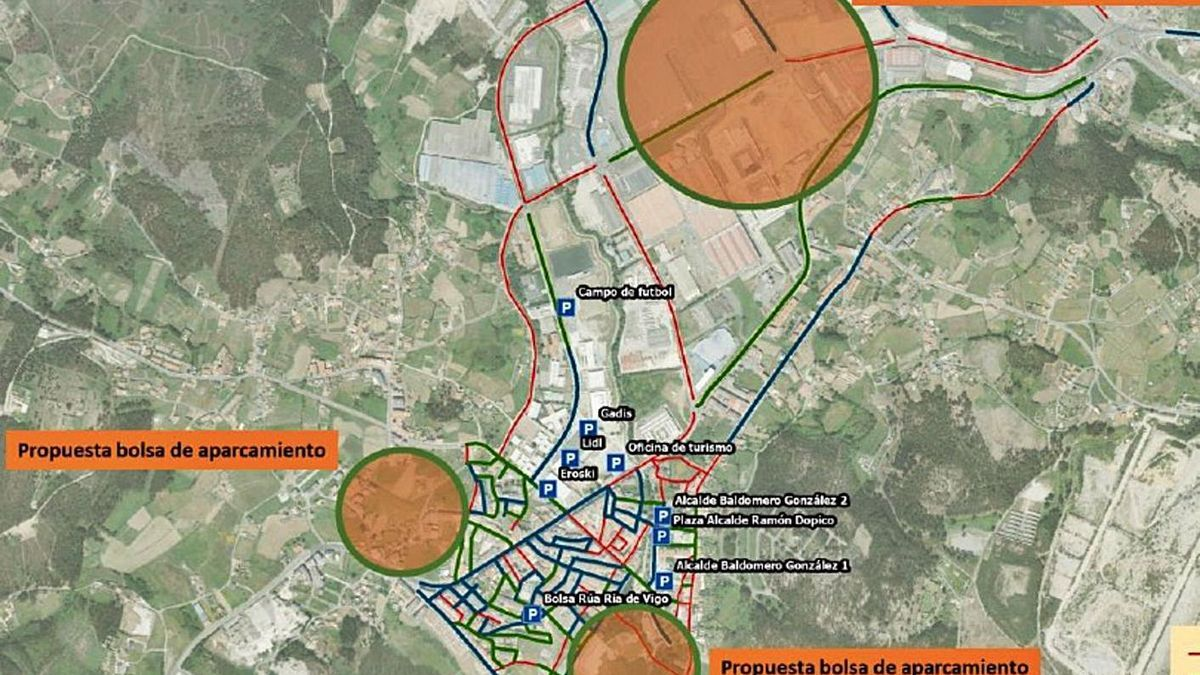 Plano con las zonas propuestas para los aparcamientos. |   // LA OPINIÓN