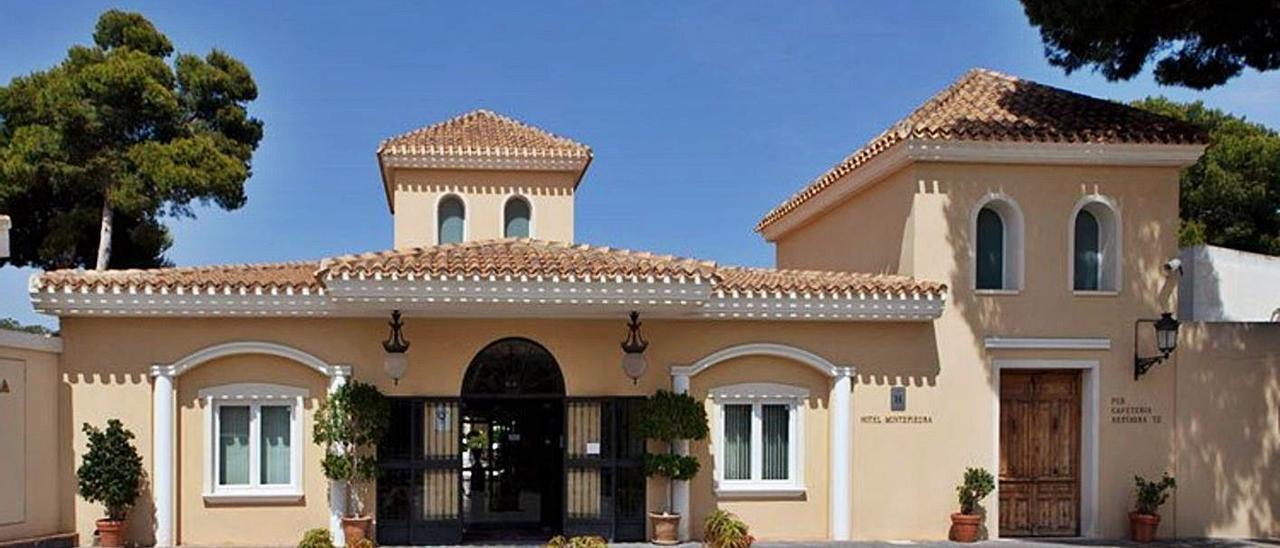 Fachada del hotel Montepiedra de Orihuela en una imagen de su página web.