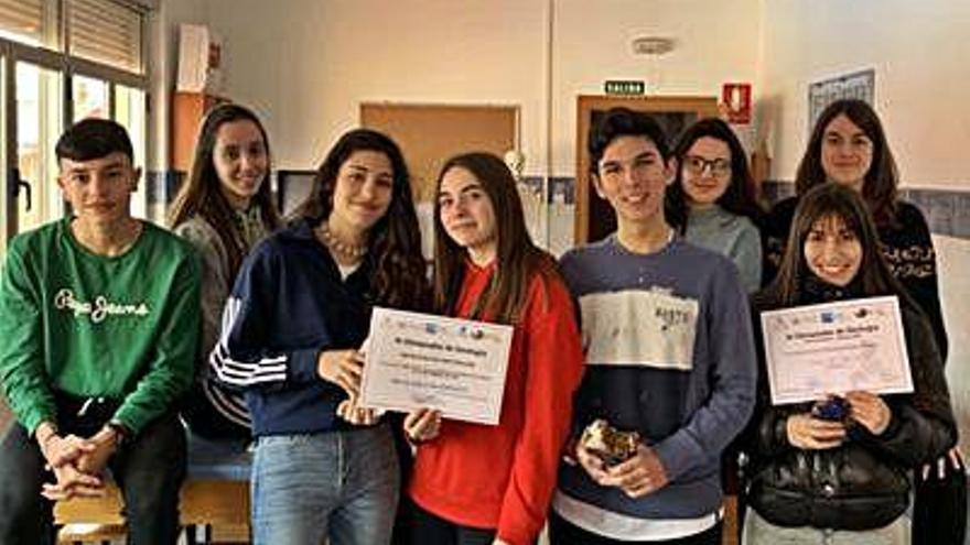 Alumnos de San Vicente de Paúl de Benavente ganan las XI Olimpiadas de Geología