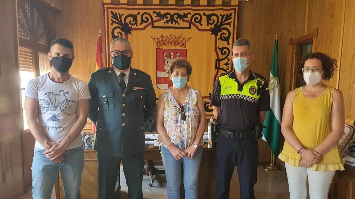 Despedida a Miguel Ángel Muñoz, sargento de la Guardia Civil en Almodóvar