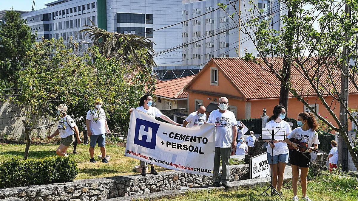 Protesta en contra de la ampliación del Hospital Universitario realizada el año pasado.