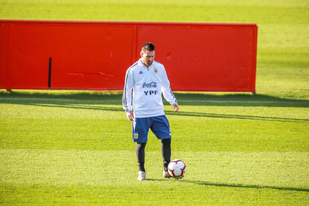 Segundo entrenamiento de la Argentina de Messi en Son Bibiloni