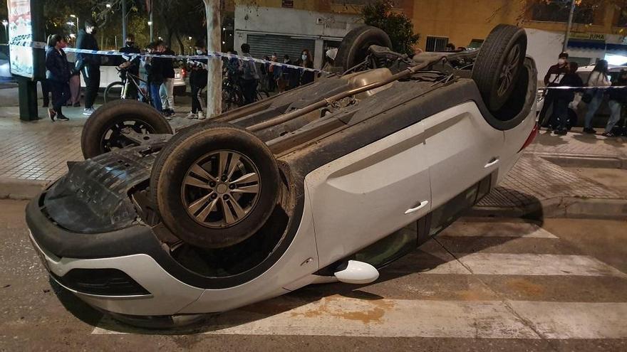 Dos heridos leves en un aparatoso accidente de tráfico en Fátima