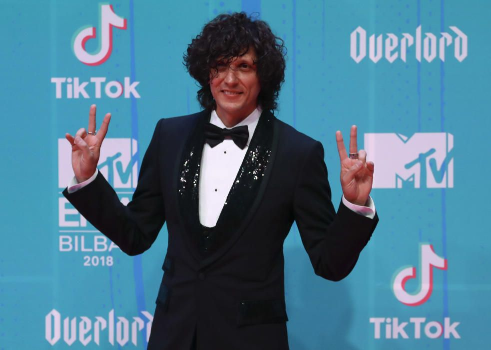 Ermal Meta arrives at the 2018 MTV Europe Music ...