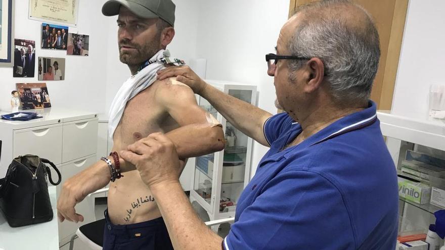 Rojas solo sufre dos fisuras en las costillas y podrá estar en la Vuelta