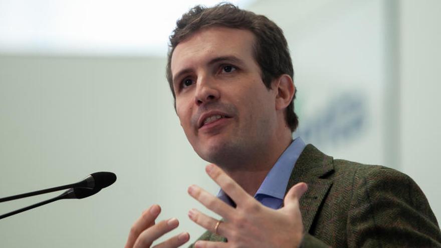 Casado sitúa al PP como único partido alternativo
