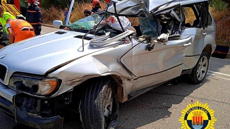 Accidente en Onda entre un camión y un coche