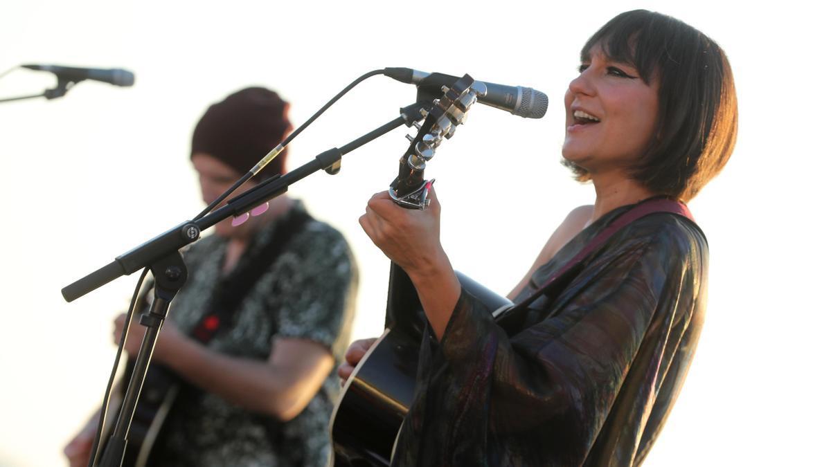 Amaral, durante su actuación del año pasado en el festival TerraCeo