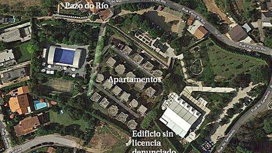 De carpa de 250 metros a edificio de 645 metros sin licencia en Pazo do Río