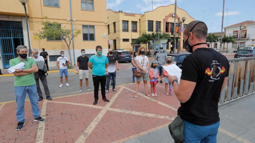 Concentración en el Port de Sagunt por los ataques a policías en el Campo de Gibraltar