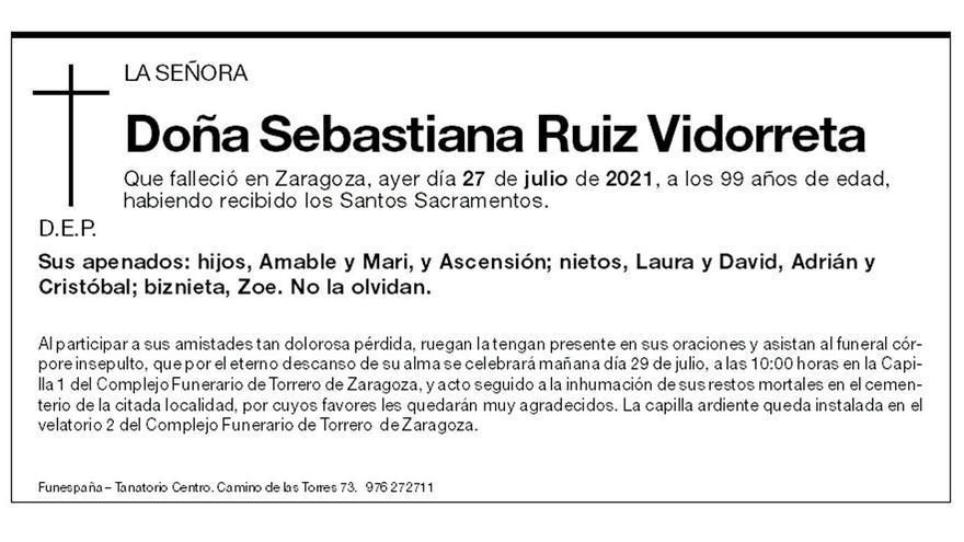 Sebastiana Ruiz Vidorreta