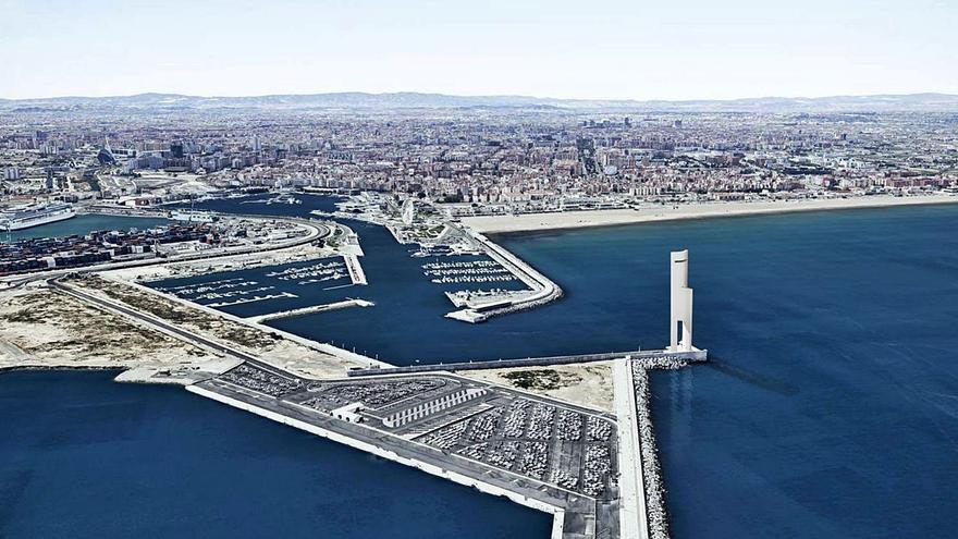 Un ajuste del canon retrasa la aprobación de la torre eólica del puerto