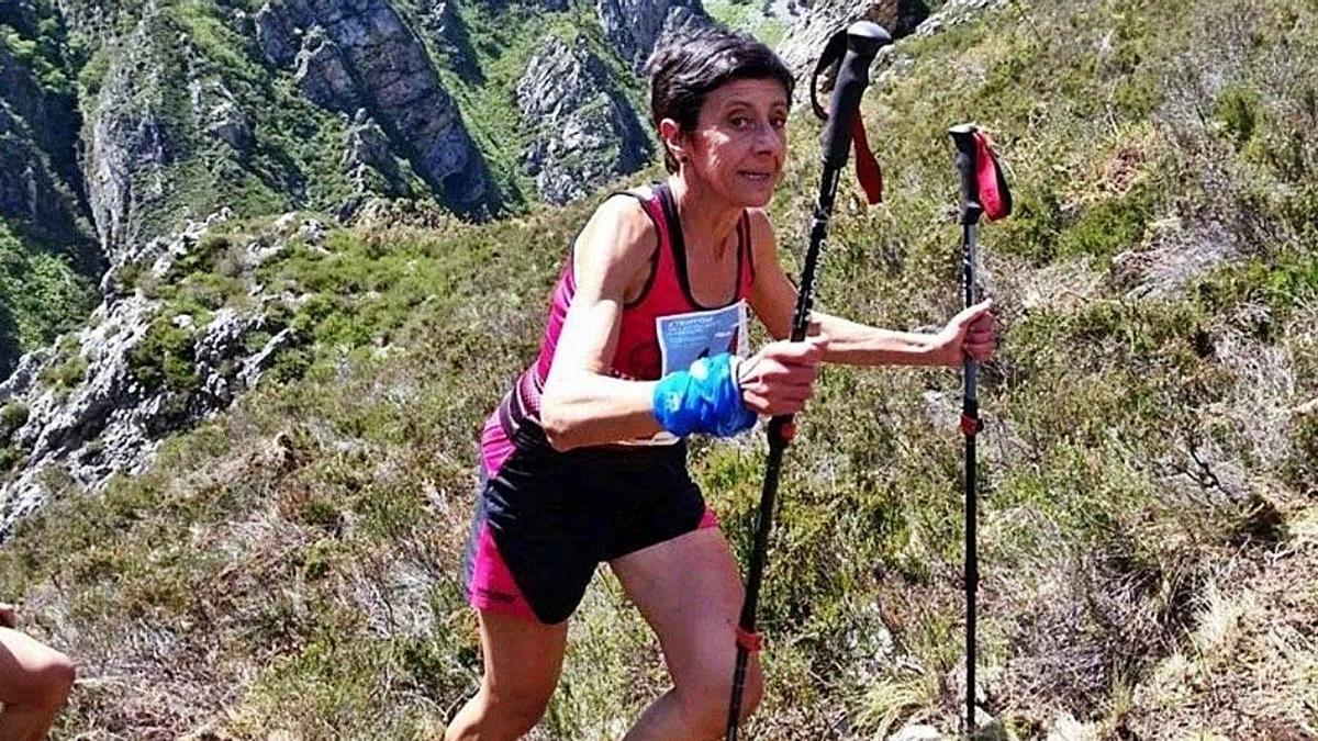 Ana Cristina Aguado, en pleno esfuerzo, durante la prueba que la convirtió en campeona de Europa.