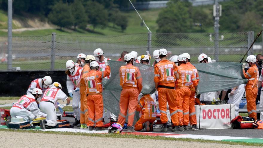 Ferit de gravetat un jove pilot de Moto3 després d'un espectacular accident durant la classificació del Gran Premi d'Itàlia