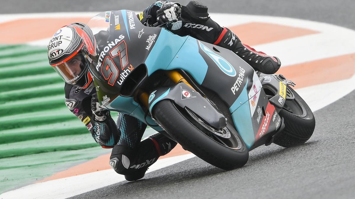 Xavio Vierge, en el circuito de Cheste.